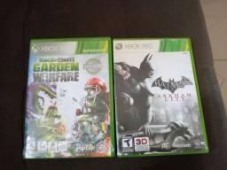2 jogos de xbox 360 por 80 reais, plant vs zombies e batman arkham city ou troco por gta 5