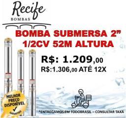"""Bomba Submersa 2"""" ou 50mm C/Box (caixa de comando) Palito, Caneta, Torpedo"""