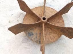 Peça em ferro fundido enfeite decoração roda d' água