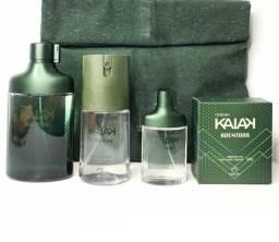 Kit kaiak aventura masculino perfume 100ml + perfume 25ml + deo corporal 100ml + sabonete
