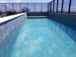 HUB Flat Manaíra 02 qtos 16º andar, Piscina, Área de Lazer novo 299 mil (MA02)