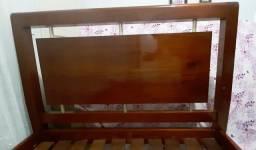 Cama casal de madeira pura + colchão