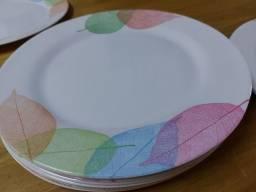 Conjunto 12 pratos rasos de melamina