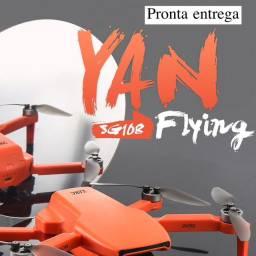 Drone SG108 com duas baterias-cor Laranja- Pronta entrega