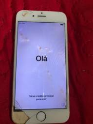 Vendo iphone 6 seminovo com a tela danificada