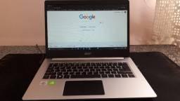 Notebook Acer i5 10ª Geração 14 pol. - vídeo dedicado nvidia mx350 2gb DDR5