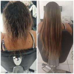 Aplicação de megar hair promoção esse mês