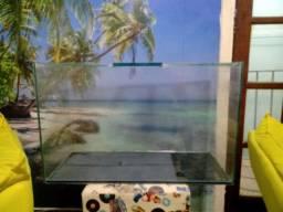 Lindo aquário completo com tampa capacidade 100 litros