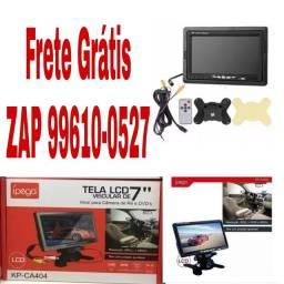 Tela Monitor Veicular Lcd 7 Polegadas Portátil Controle Rca