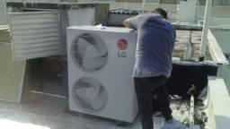 Instalação e manutenção em ar condicionado split e acj