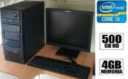 Oferta Computador completo i3 4gb hd 500gb