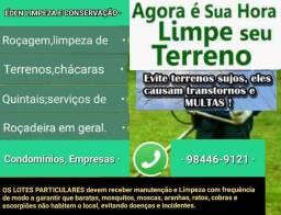 SERVIÇOS DE ROÇADEIRA