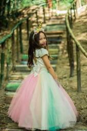 Vestido/fantasia unicórnio infantil