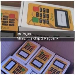 Maquina leitor de cartao minizinha chip 2