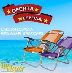 Cadeira de Praia Reclinável - 5 Posições