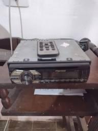 Som Pioneer com controle remoto sem Bluetooth