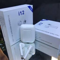 Fones de ouvido sem fio i12 tws Bluetooth 5.0