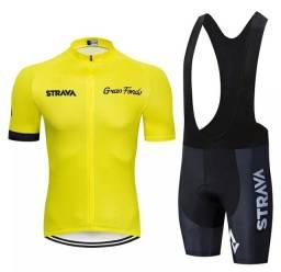 Bretelle Strava 150 D + Camiseta Ciclismo Strava