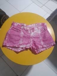 Shorts estilo Tie Dye, cintura baixa, número 42