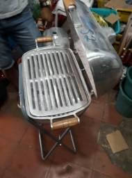 Suporte para churrasqueira de aluminio grande ou pequena