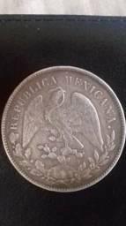 Prata Mexicana 1 peso do ano de 1899
