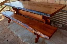 Pron. entrega mesa de 2,50 mts com 2 bancos