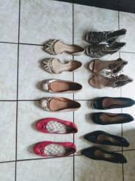 Vendo um lote de calçados feminino usado n 38