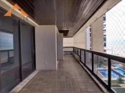 Apartamento com 4 quartos para alugar, 297 m² por R$ 7.000,00/mês com taxas - Beira mar de