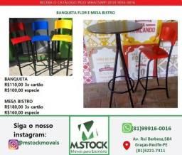 Banqueta banco flor para cozinha americana ou balcão alta comprar usado  Recife