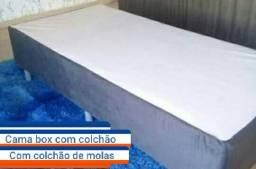 Cama box com colchão solteiro