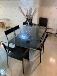 Mesa de Jantar de Vidro para 6 Lugares