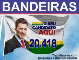 Bandeiras, botons, santinhos, adesivos para campanha politica (gráfica)