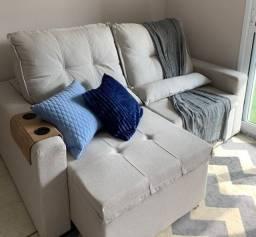 Sofá Retrátil Reclinável com dois lugares (semi-novo)