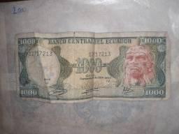Cédula de 1000 sucres Equador 1984