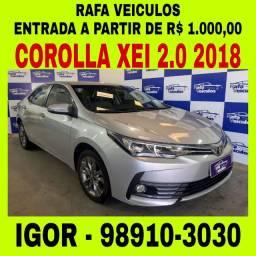 Corolla XEI 2.0 AUT FLEX 2018 em oferta na Rafa veículos, falar com Igor hgs
