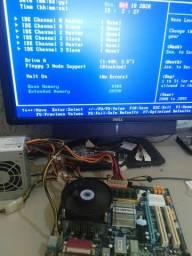 Kit 775 c Core 2 Duo 2.93 e 2gb ddr2! Águas Lindas!