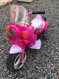 Moto elétrica infantil barbie