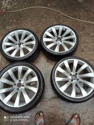 Vendo rodas aro 17 em perfeito estado pneus bons
