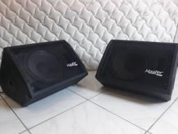 Audio master - kit monitor ativo m12 200 + passivo mp200