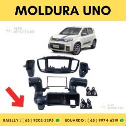 Moldura Fiat Uno 2015> 2din Black Piano Moudura Uninho Fiate Dois Din Dim