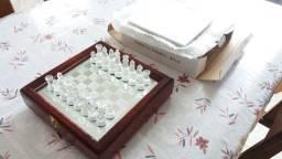 Jogo de xadrez - Tabuleiro em vidro