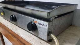 Chapa para lanches profissional Tedesco 6mm