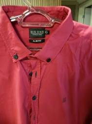 Camisa Six One rosa slim M