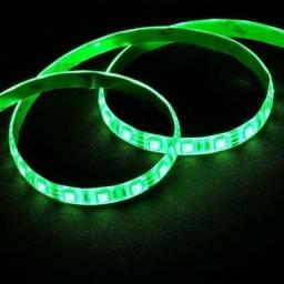 Kit Fita LED Rolo 5m Verde ou Azul + Fonte