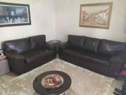 Sofa corino 2 e 3 lugares
