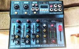 Mesa de som arcano com efeitos usb gravação interface e bluetooth