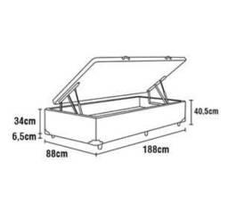 Base Box para Colchão de Solteiro Itaflex Universal com Baú