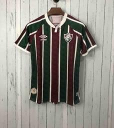 Camisa Fluminense I 20/21 s/n° Torcedor Umbro Masculina - Vinho e Verde
