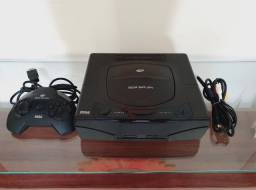 Sega Saturn Tectoy Bloqueado Preto 1 Controle