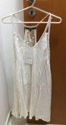 Vestido Fluido Shoulder Of White - Novo com Etiqueta